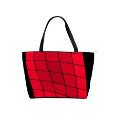 Red abstraction Shoulder Handbags