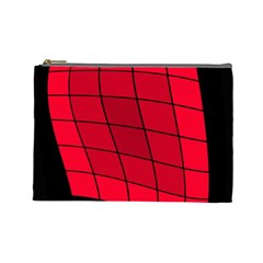 Red abstraction Cosmetic Bag (Large)