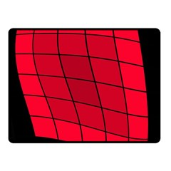 Red abstraction Fleece Blanket (Small)