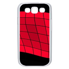 Red abstraction Samsung Galaxy S III Case (White)