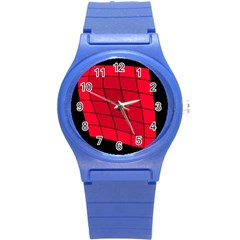 Red abstraction Round Plastic Sport Watch (S)