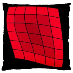 Red abstraction Large Cushion Case (Two Sides)