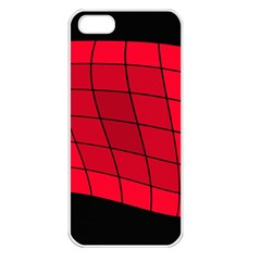 Red abstraction Apple iPhone 5 Seamless Case (White)