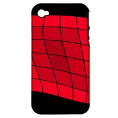 Red abstraction Apple iPhone 4/4S Hardshell Case (PC+Silicone)