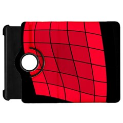 Red abstraction Kindle Fire HD Flip 360 Case