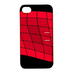 Red abstraction Apple iPhone 4/4S Hardshell Case with Stand