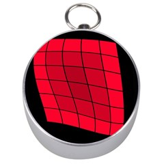 Red abstraction Silver Compasses