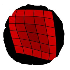 Red abstraction Large 18  Premium Flano Round Cushions