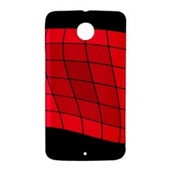 Red abstraction Nexus 6 Case (White)