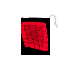 Red abstraction Drawstring Pouches (XS)