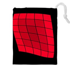 Red Abstraction Drawstring Pouches (xxl)