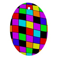Colorful cubes  Ornament (Oval)