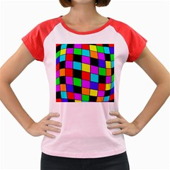 Colorful cubes  Women s Cap Sleeve T-Shirt