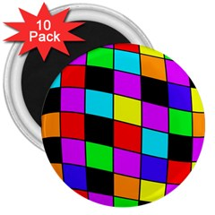 Colorful cubes  3  Magnets (10 pack)