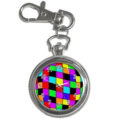Colorful cubes  Key Chain Watches