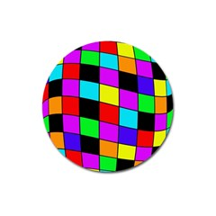 Colorful cubes  Magnet 3  (Round)