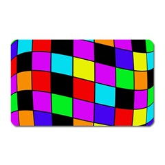 Colorful cubes  Magnet (Rectangular)