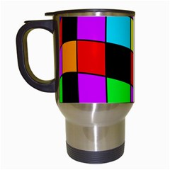 Colorful cubes  Travel Mugs (White)