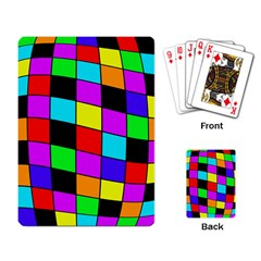 Colorful cubes  Playing Card