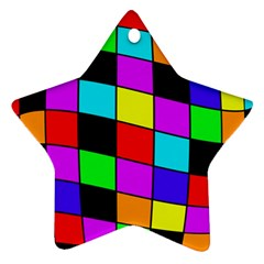 Colorful cubes  Star Ornament (Two Sides)