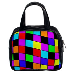 Colorful cubes  Classic Handbags (2 Sides)