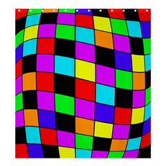 Colorful cubes  Shower Curtain 66  x 72  (Large)