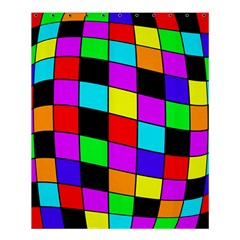 Colorful cubes  Shower Curtain 60  x 72  (Medium)