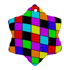 Colorful Cubes  Ornament (snowflake)