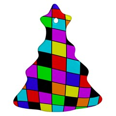 Colorful cubes  Christmas Tree Ornament (2 Sides)
