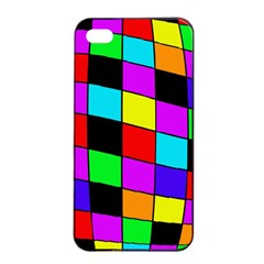 Colorful cubes  Apple iPhone 4/4s Seamless Case (Black)