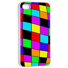 Colorful cubes  Apple iPhone 4/4s Seamless Case (White)
