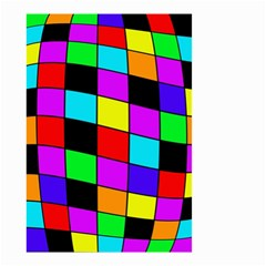 Colorful cubes  Small Garden Flag (Two Sides)