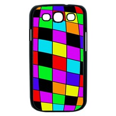 Colorful cubes  Samsung Galaxy S III Case (Black)