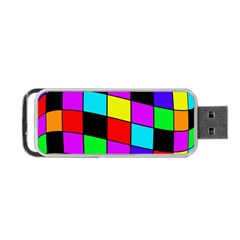 Colorful cubes  Portable USB Flash (One Side)