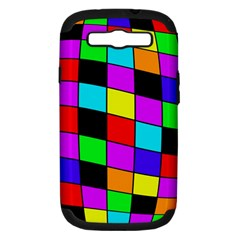 Colorful cubes  Samsung Galaxy S III Hardshell Case (PC+Silicone)