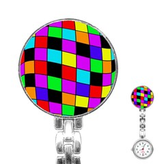 Colorful cubes  Stainless Steel Nurses Watch