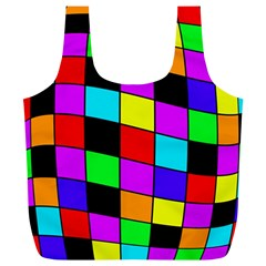 Colorful cubes  Full Print Recycle Bags (L)