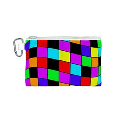Colorful cubes  Canvas Cosmetic Bag (S)