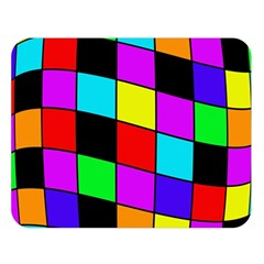 Colorful cubes  Double Sided Flano Blanket (Large)