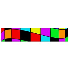 Colorful cubes  Flano Scarf (Small)