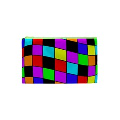Colorful cubes  Cosmetic Bag (XS)