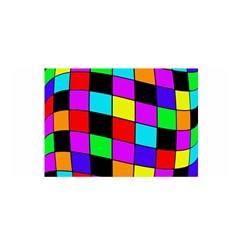Colorful cubes  Satin Wrap
