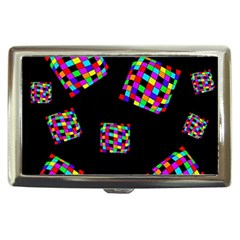 Flying  colorful cubes Cigarette Money Cases