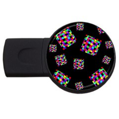 Flying  colorful cubes USB Flash Drive Round (2 GB)