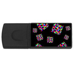 Flying  colorful cubes USB Flash Drive Rectangular (1 GB)