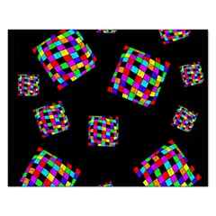 Flying  colorful cubes Rectangular Jigsaw Puzzl