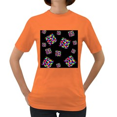 Flying  colorful cubes Women s Dark T-Shirt