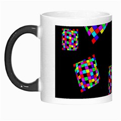 Flying  colorful cubes Morph Mugs