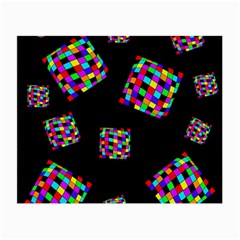 Flying  colorful cubes Small Glasses Cloth