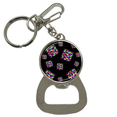 Flying  colorful cubes Bottle Opener Key Chains